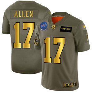 Men's Buffalo Bills 17 Josh Allen Limited Jersey